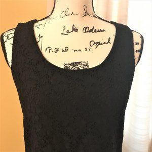 Black lace-covered tank